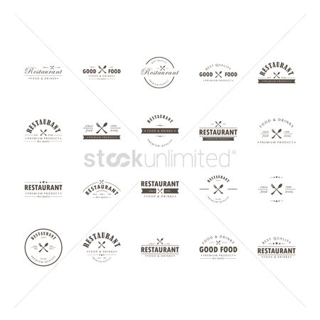 Drinks : Restaurant logo design collection