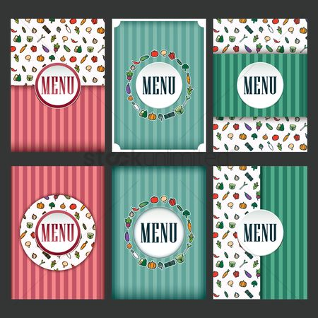 Carrots : Restaurant menu design collection