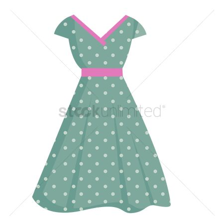 Fork : Retro polka dot dress