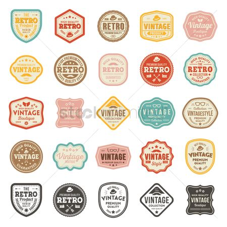 Products : Retro product badge collection