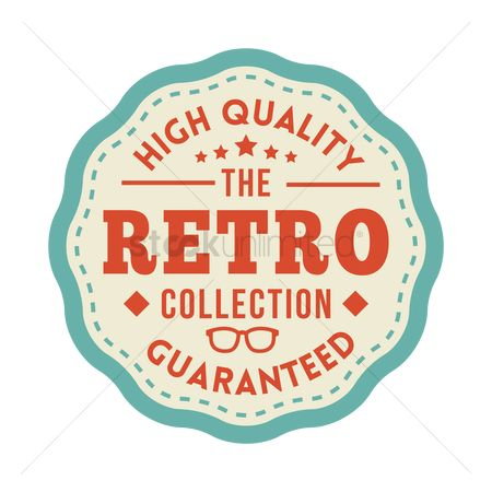 Products : Retro product badge
