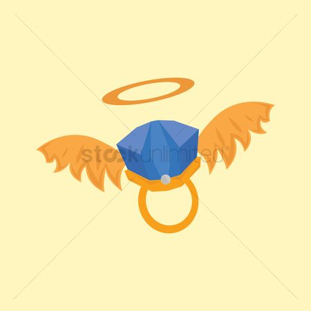 Engagements : Ring with wings