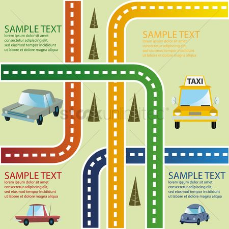 Taxis : Road traffic infographic
