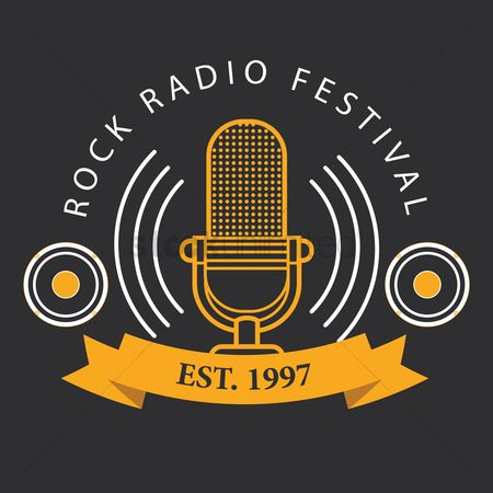 Retro : Rock radio festival logo