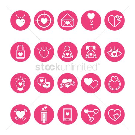 Love speech bubble : Romantic icons