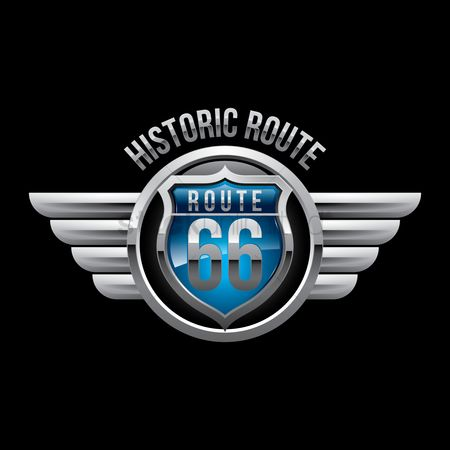 Shield : Route sign 66