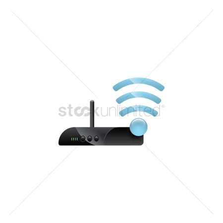 Routers : Router with wifi signal