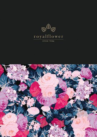 Royal : Royal flower corporate identity element
