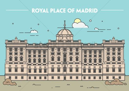 Architectures : Royal palace of madrid