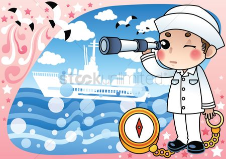 Sailors : Sailor with spyglass
