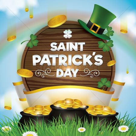 Wooden sign : Saint patricks day