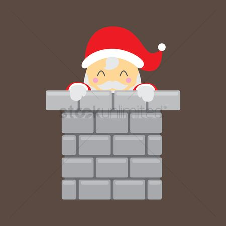 Brick : Santa claus in chimney