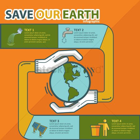 Faucets : Save earth infographic