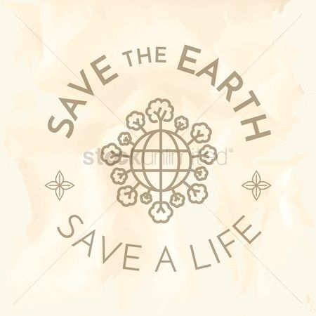 Save trees : Save the earth label