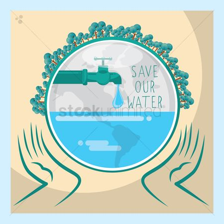 Faucets : Save water concept