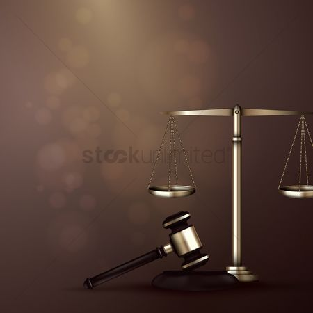 Equality : Scales of justice with a gavel