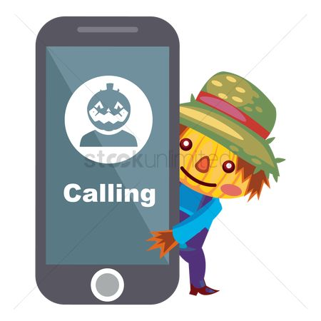 Calling : Scarecrow with a phone