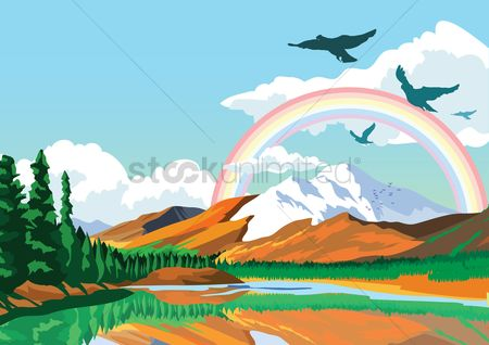 Mountains : Scenic landscape view