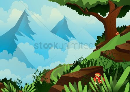 Mountain : Scenic landscape