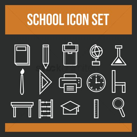 Free Pictogram School Stock Vectors | StockUnlimited