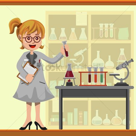 Chemicals : Scientist in the lab