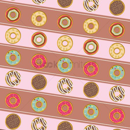 Flavor : Seamless pattern of donuts
