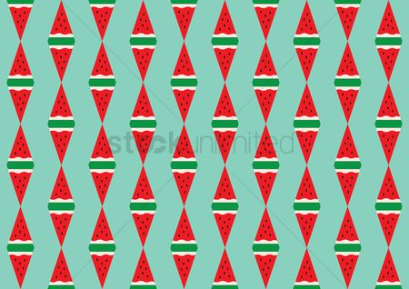 Watermelon slice : Seamless pattern of watermelon