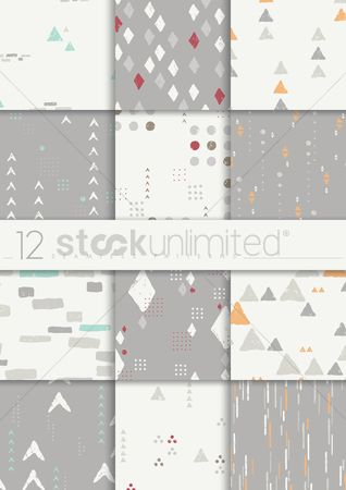 Styles : Seamless patterns collection