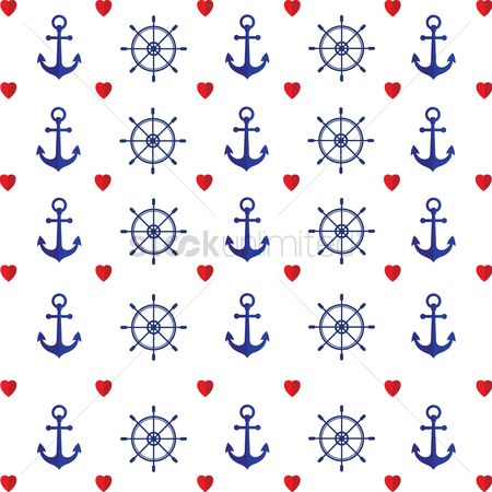 Nautical : Seamless sea pattern