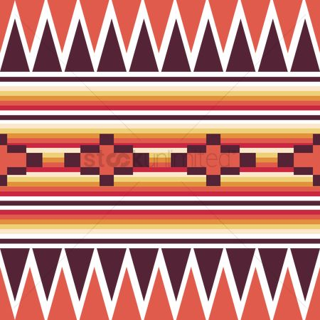 Mexicans : Seamless tribal pattern