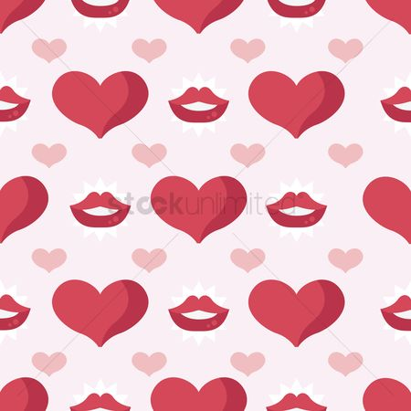 Romance : Seamless valentine s day background