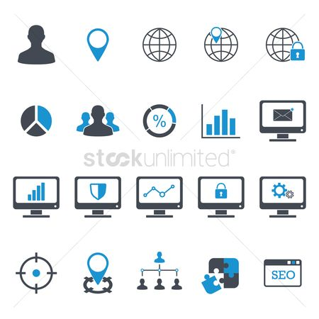 Email : Seo development icons