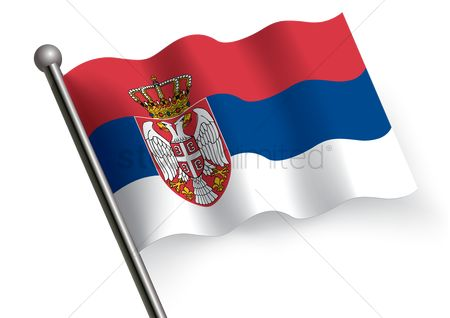 Tricolored : Serbia flag