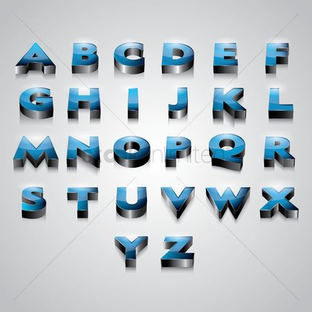 Shine : Set of 3d alphabets