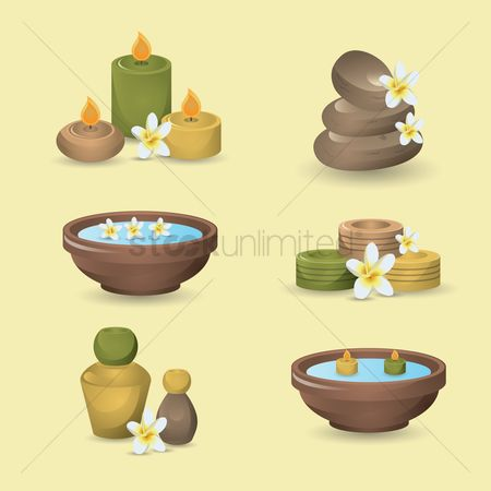 Zen : Set of a massage icons