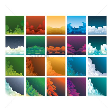 Mountains : Set of abstract backgrounds