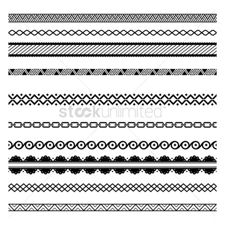 Patterns : Set of abstract border designs