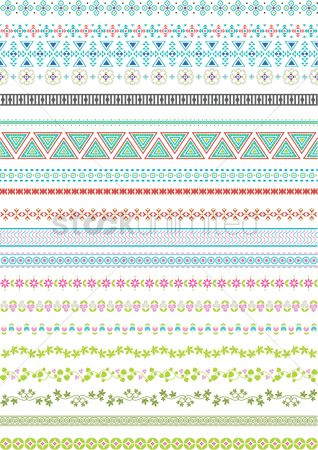 Abstract : Set of abstract border designs