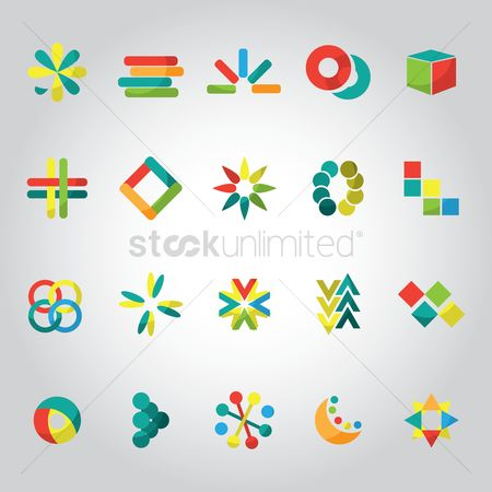 Logo : Set of abstract logo elements