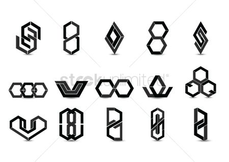 Geometrics : Set of abstract logo elements