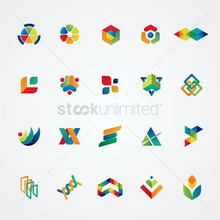 Styles : Set of abstract logo elements