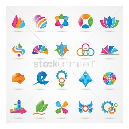 Cogwheels : Set of abstract logos