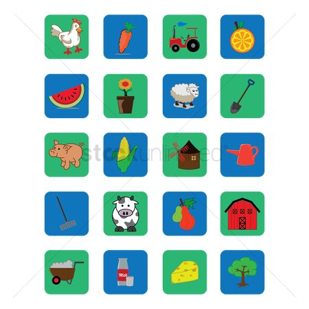 Spade : Set of agriculture icons