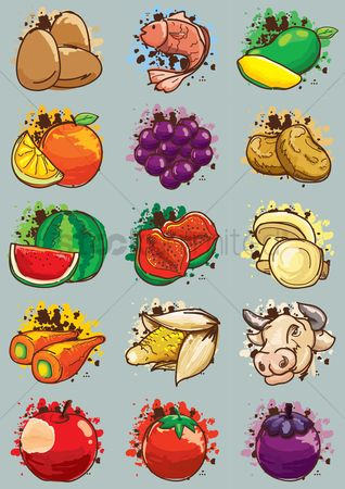 Fruit : Set of agriculture