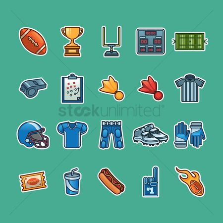 American football : Set of american football icons