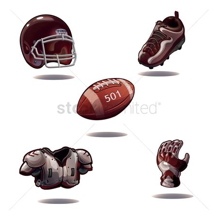 Footwear : Set of american football icons