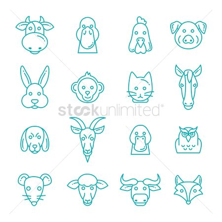 Cow : Set of animal icons