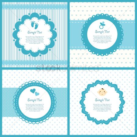 Babies : Set of baby shower labels