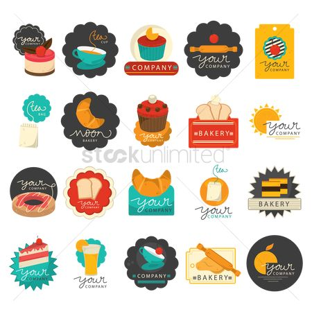Confectionery : Set of bakery icons