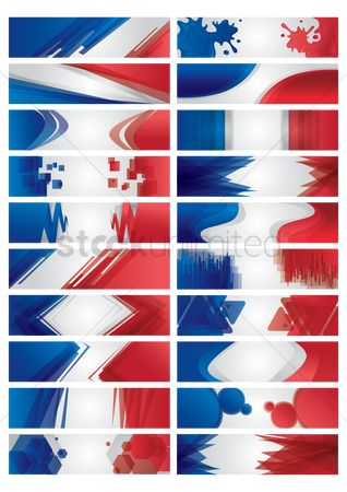 Patriotic : Set of banner designs